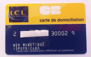 carte de domiciliation pour TPE